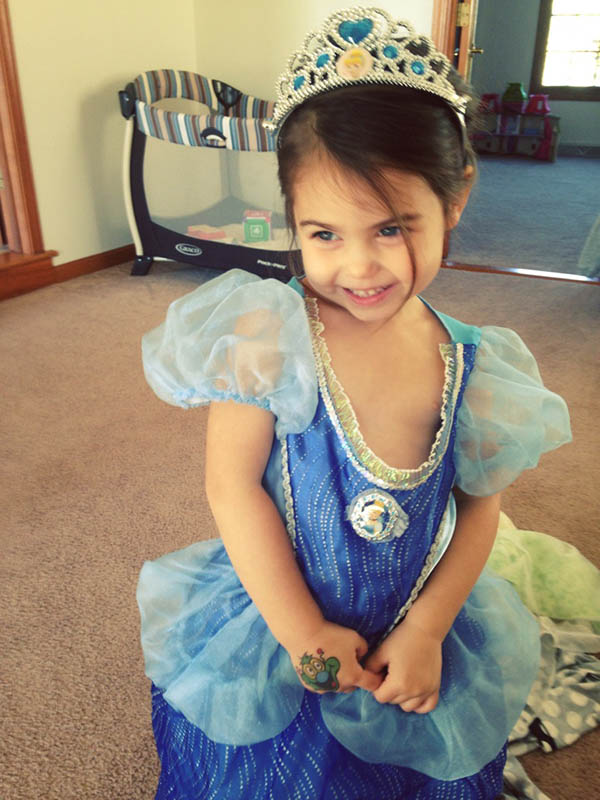 { The prettiest princess - my niece, Mia. }