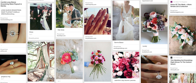 { Yes, that is a screenshot of my wedding-inspired board on Pinterest. No shame. I like pretty things, ok? Ok. }