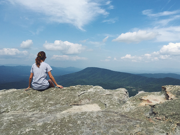 {  McAfee's Knob . Taking in the views. Virginia, you sure are a babe. }