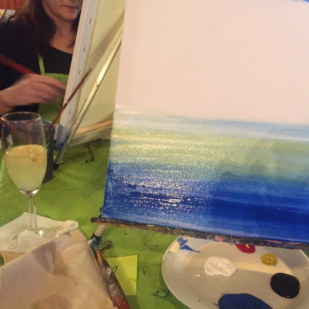 { French 75s and Paint Nite }