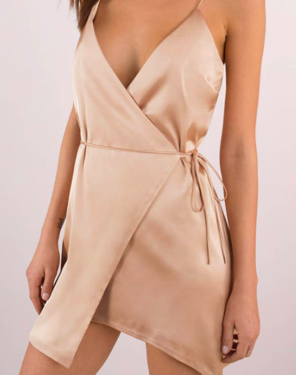 3.  Champagne wrap dress  The price tag on this one is amazing...