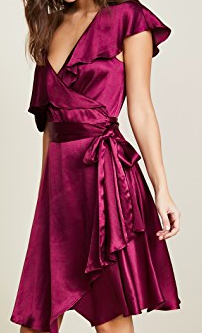 10.  Silk wrap-dress