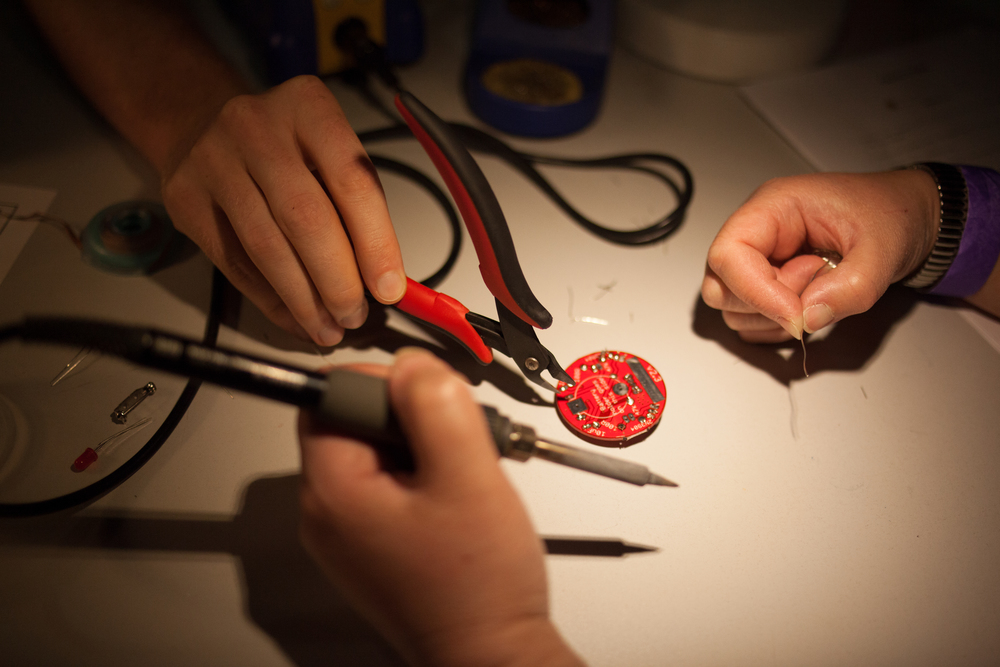 Soldering clinic.