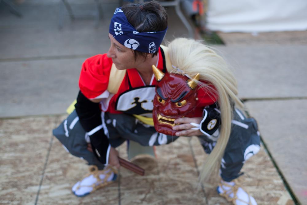 Onedeko-Gumi (Demon Dance) performers.