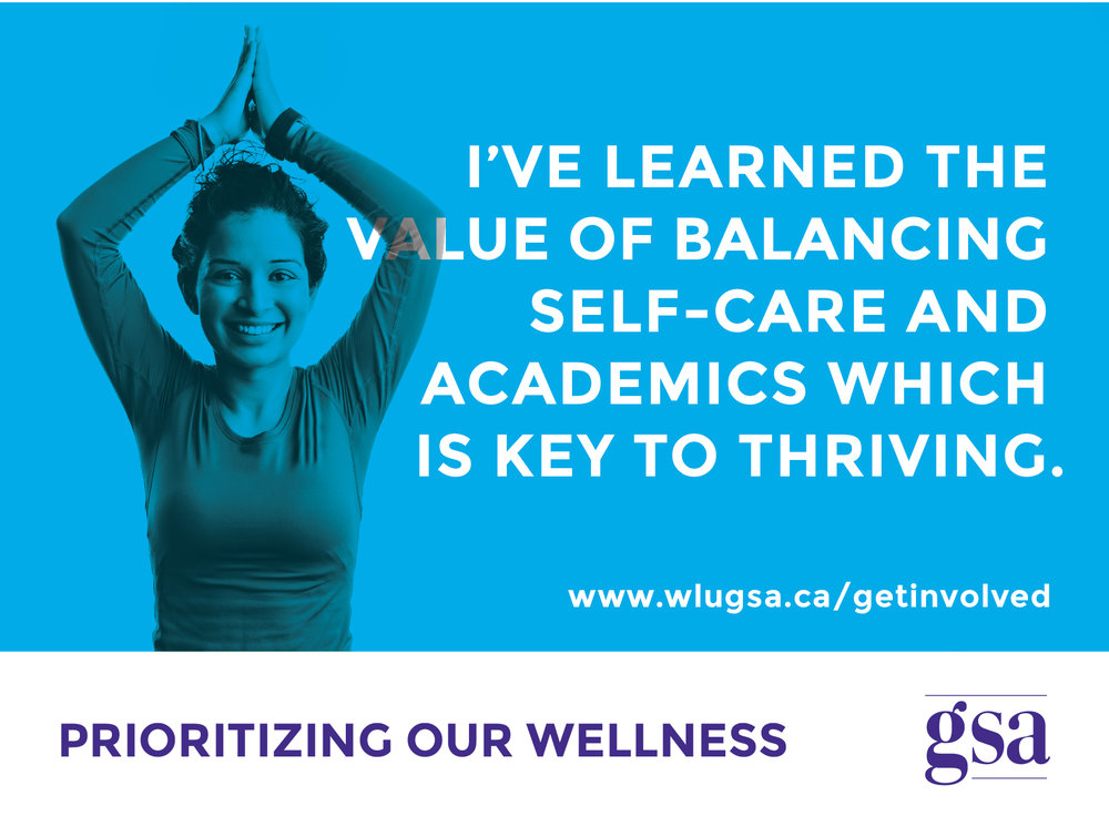 """Working at the GSA, I have learned the value of balancing self-care and academics which helps me produce higher quality work. Prioritizing wellness is the key to thriving in grad school."" - Preet"
