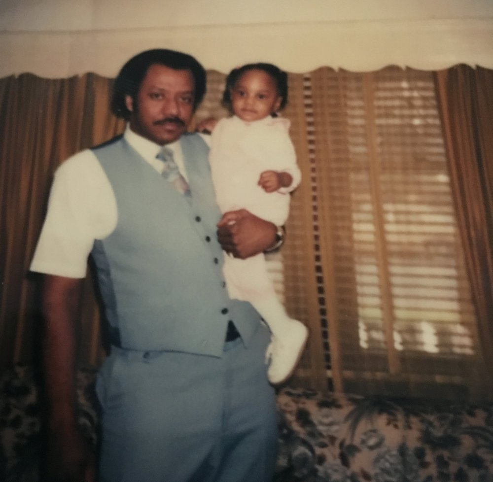 Young Jennifer J and her grandfather, Ivory Jackson, Sr. He departed this world on June 2, 2018.