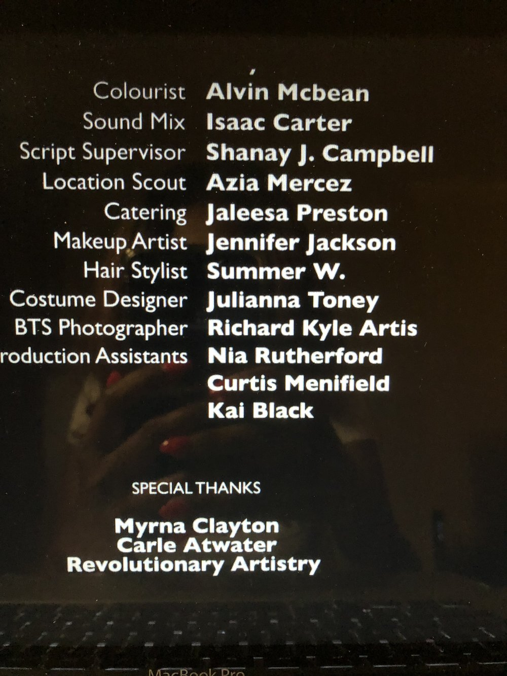 It is an amazing feeling to see your name on the credits.