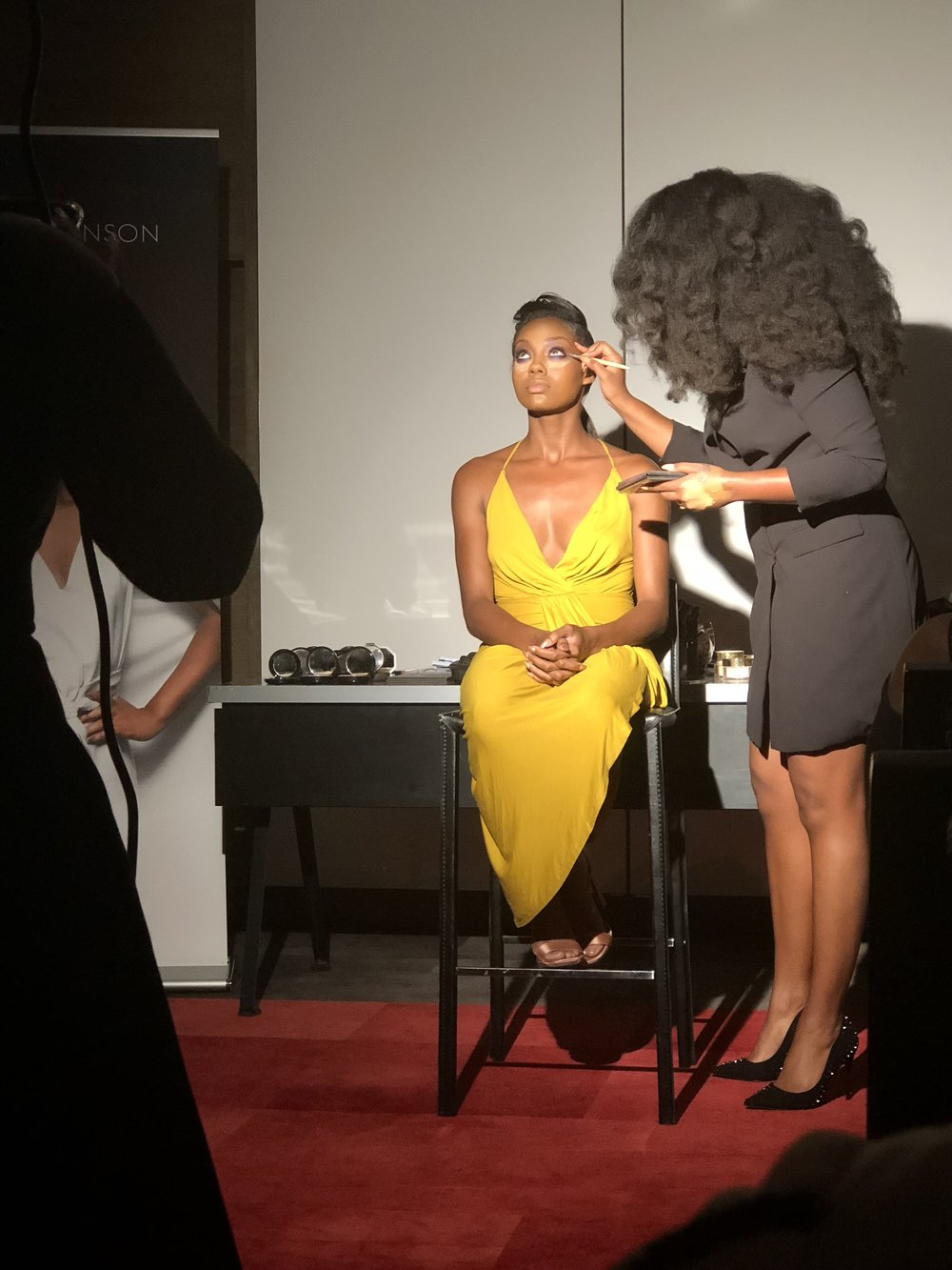 The live demo where Tiyana applies her makeup techniques on her model.