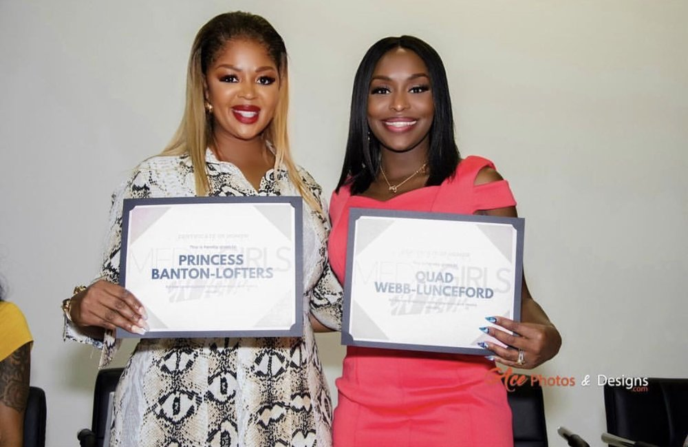 Outstanding Woman in Media Award Recipients, Princess Banton-Lofters and Quad Webb-Lunceford. Photo cred: Ace Photos and Designs
