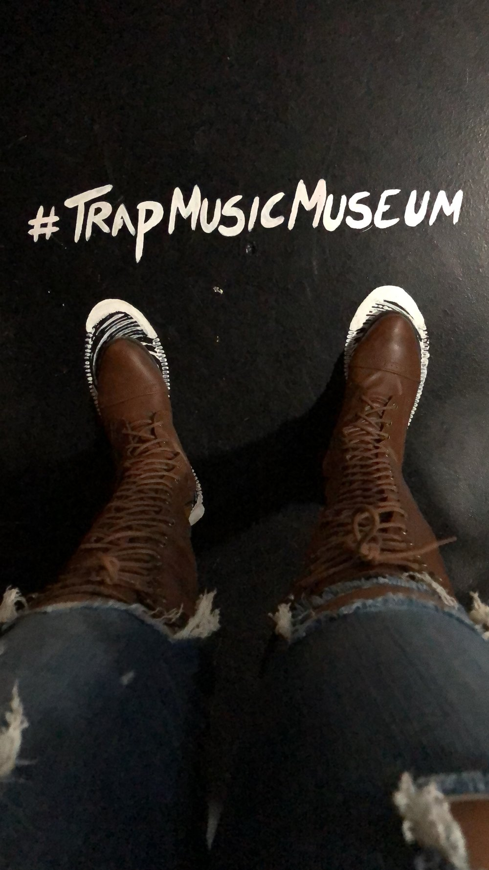 Jennifer J at the Trap Music Museum.