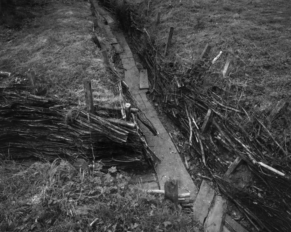 Bavarian Regiment Reserve Trench near Ypres.  Hitler served here as an infantryman during the First Battle of Ypres, 1914.