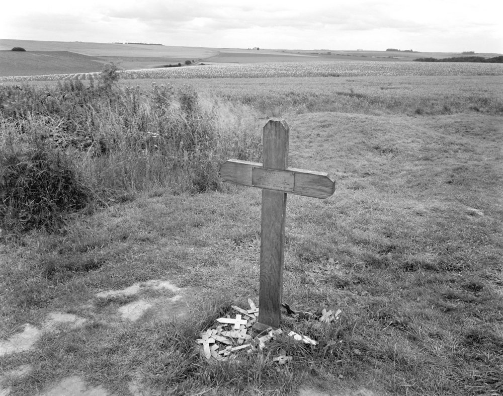 Grave of Pvt. George Nugent next to the Lochnagar Crater.