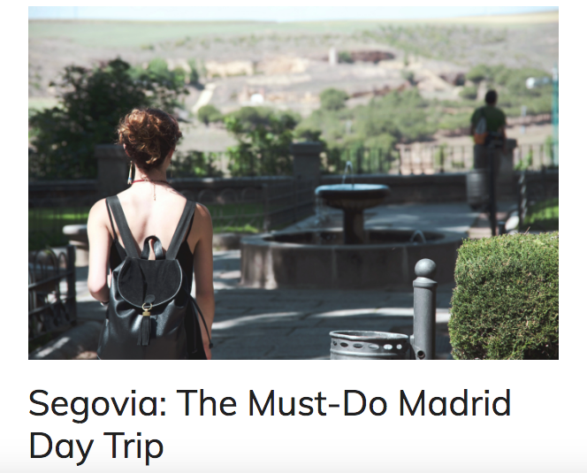 Travel Blog Post: Segovia