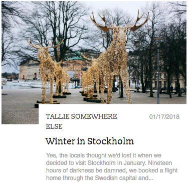 Travel Blog Post: Stockholm