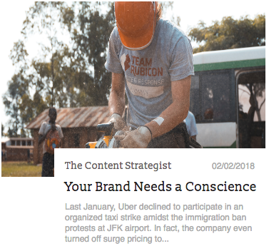 The Content Strategist Feature