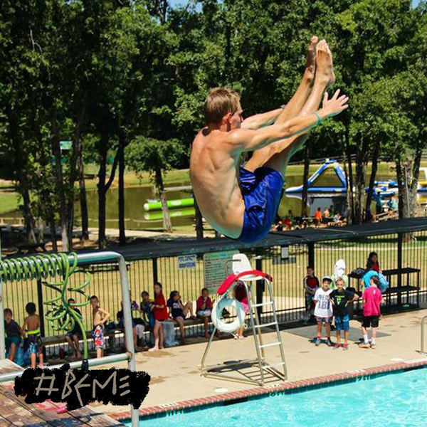 From @_MyNamesNotRICK   Never thought diving could be used as a platform for the Gospel. Camp counseling made it happen. #BeMe
