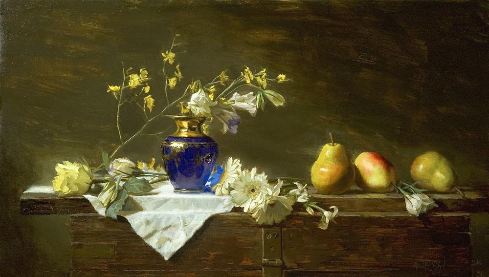 Venetian Vase & Pears