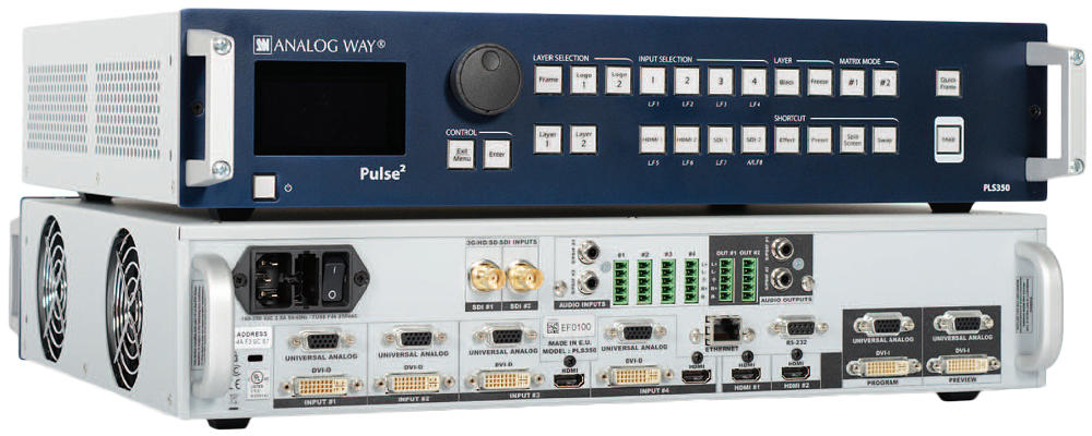 Harmon's HAS ADDED ANALOG WAY PULSE 2 - PLS350 PRESENTATION SWITCHERS TO OUR RENTAL INVENTORY.