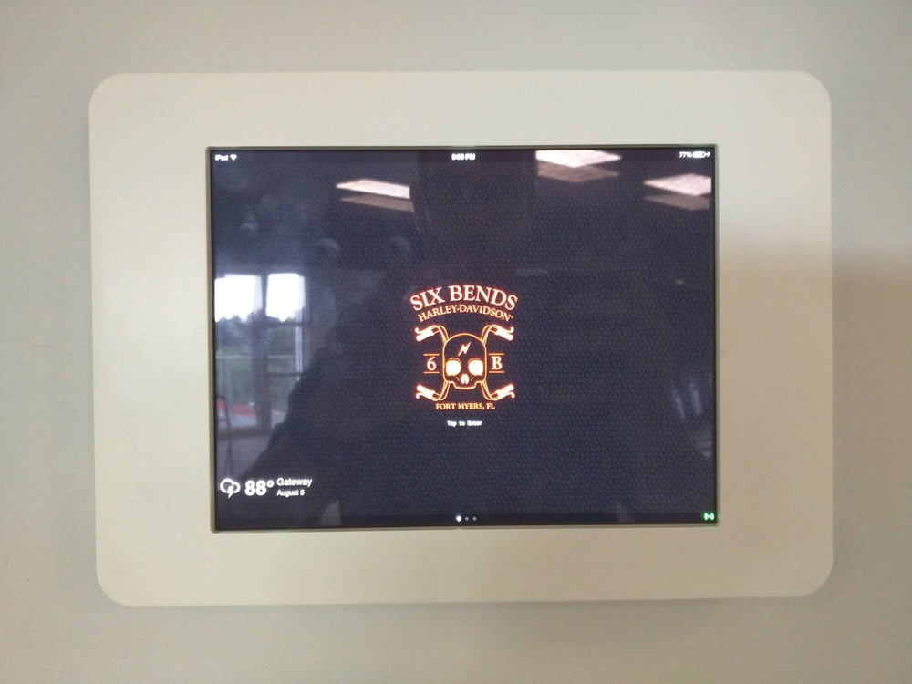 iPad wall Mounted