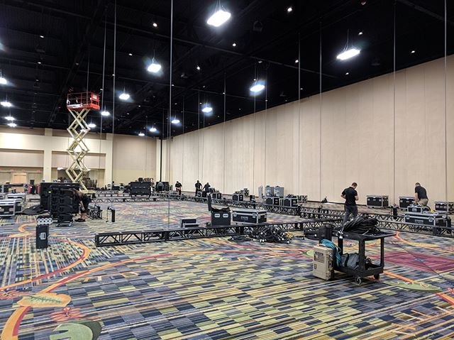 Another great @playlistlive providing complete production services from conception to execution across all 300,000+ square feet of the @orlandoworldcenter . #Harmonsav #playlistlive