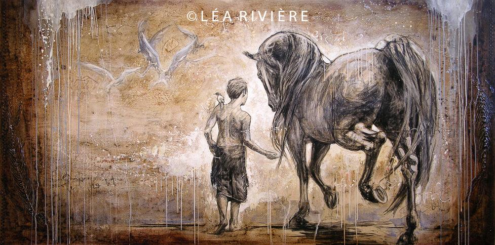 """©LéaRivière «Le manège du vent» 30""""x36"""" 76cmx92cm 2009"""