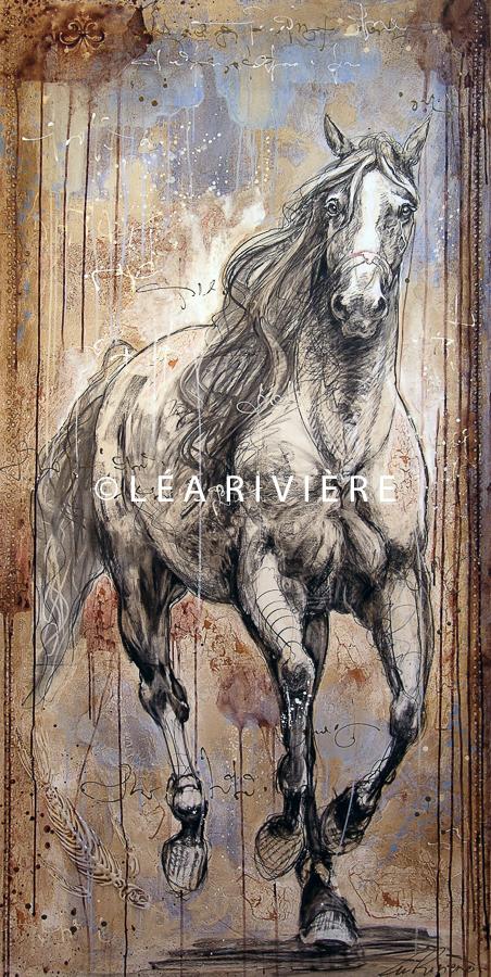 "©LéaRivière «Satie» 72""x36""183cmx92cm 2009"
