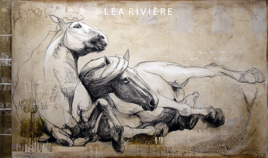 "©LéaRivière «Lounge» 36""x60"" 91cmx152cm 2012"