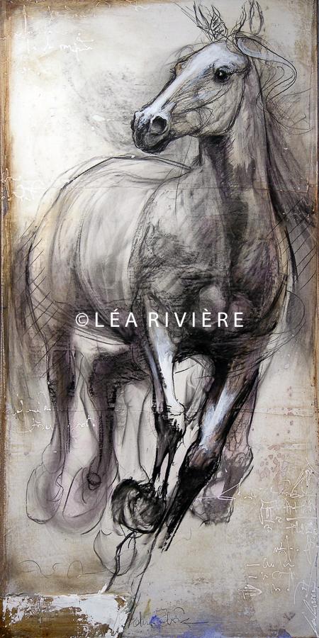 """©LéaRivière «Le pétillant de l'air» 48""""x24"""" 122cmx60cm 2012"""