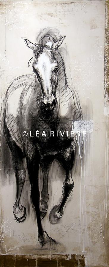 """©LéaRivière «Depuis que je t'aime»  72""""x30"""" 182cmx76cm 2012"""