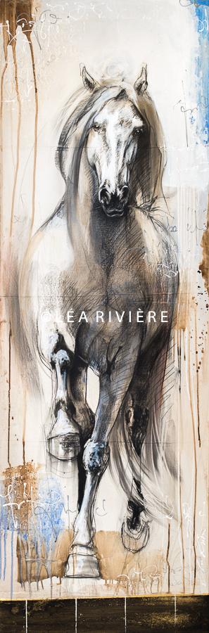 """©LéaRivière «La beauté de l'élégance» 72""""x24"""" 182cmx60cm vendu-sold"""