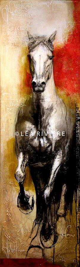 """©LéaRivière «Lumière» 60""""x18"""" 152cmx45cm vendu-sold"""