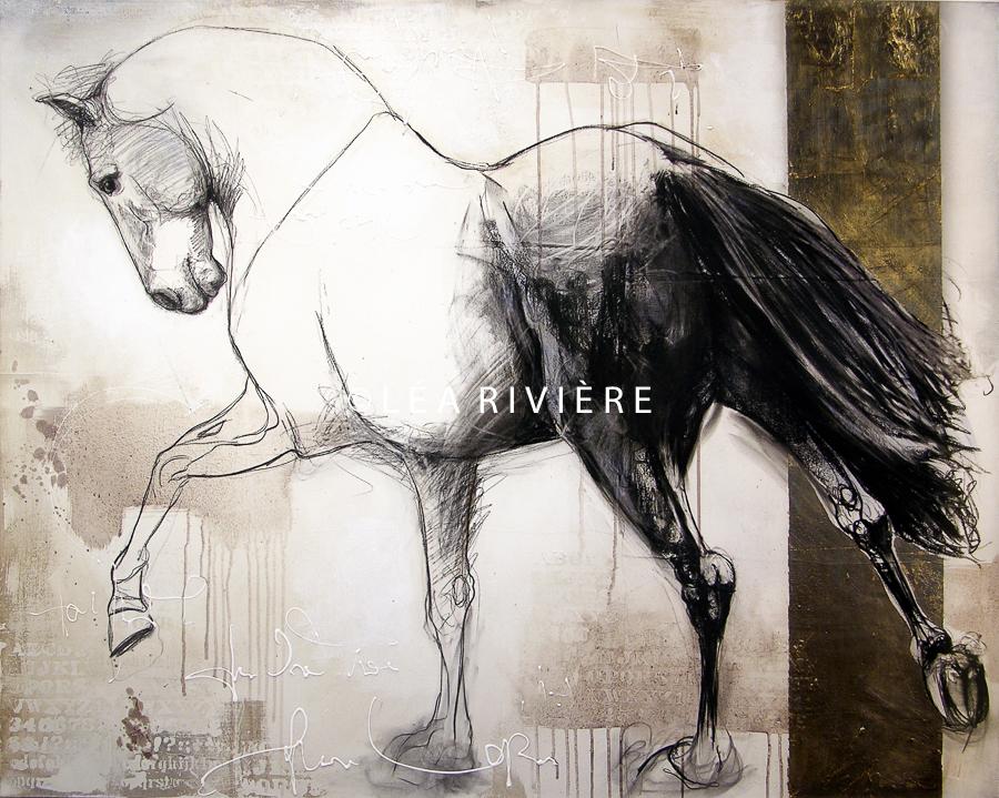 """©LéaRivière «Moment présent» 48""""x60"""" 122cmx152cm"""