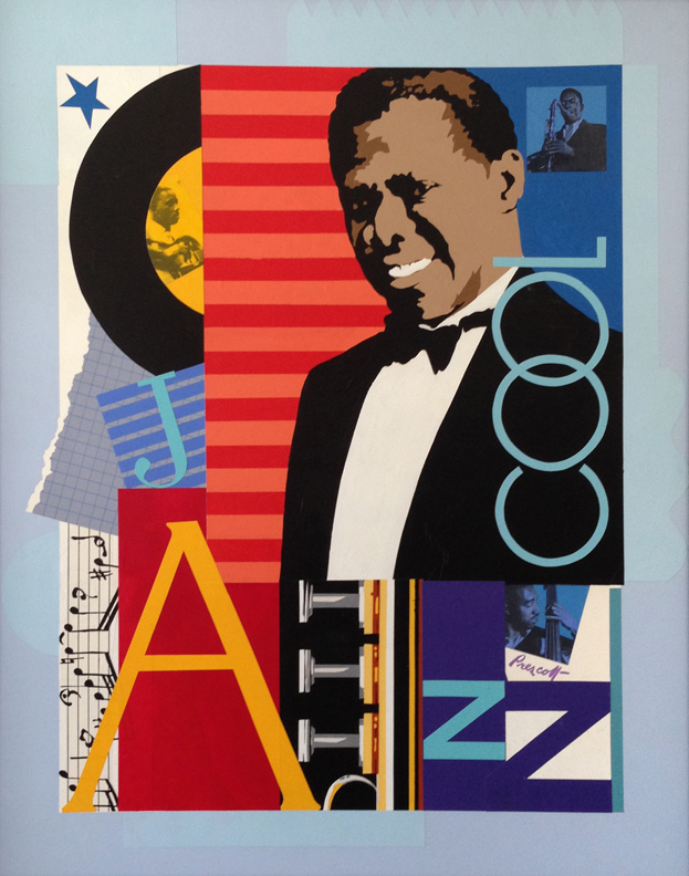 """Icon: 40""""x 32"""",collage on panel.(framed)"""