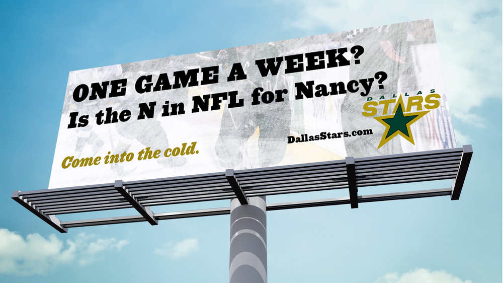 Door Number 3 Dallas Stars Hockey Billboard Advertising