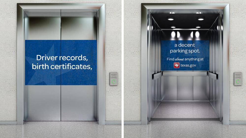 Door Number 3 Texas.gov Elevator Advertising & Texas.gov | Door Number 3 | Austin Advertising Agency Pezcame.Com