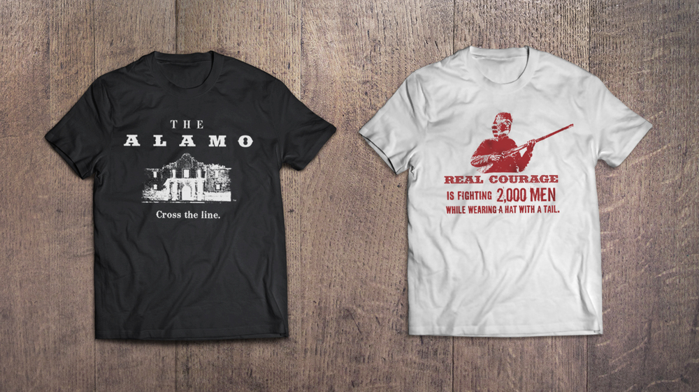 Door Number 3 The Alamo T-shirt Advertising