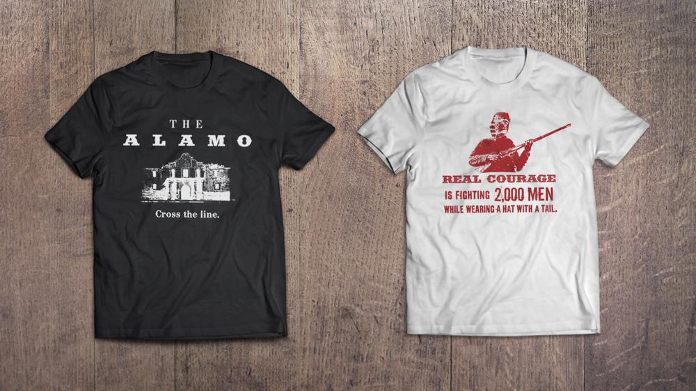 Door Number 3 The Alamo T-shirt Advertising