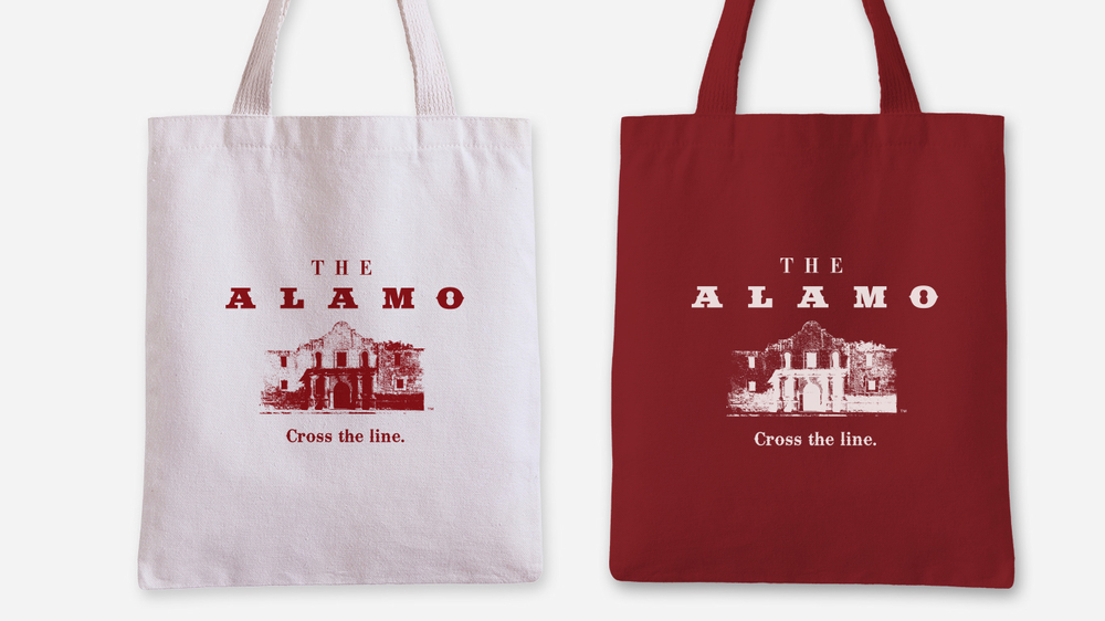Door Number 3 The Alamo Tote Bag Advertising