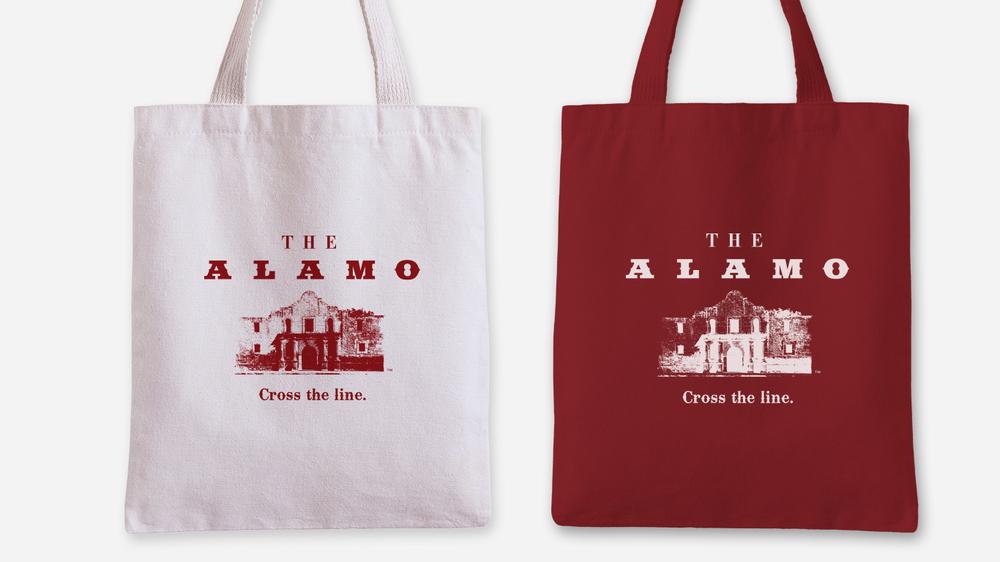 Door Number 3 The Alamo Tote Bag Advertising