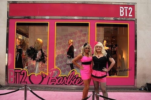 Belated Happy 60th Birthday Barbie. Throwback to when me and Davina hosted Barbie's 50th birthday for Brown Thomas back in 2009. It was the drag era of fascinators and corsets as outerwear. Zoom in if you dare.