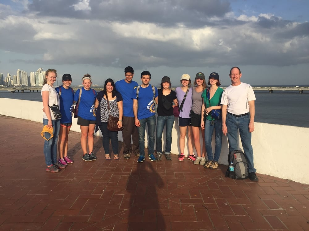 Sun so bright we can't keep our eyes open! Team had a fun time exploring Panama City.