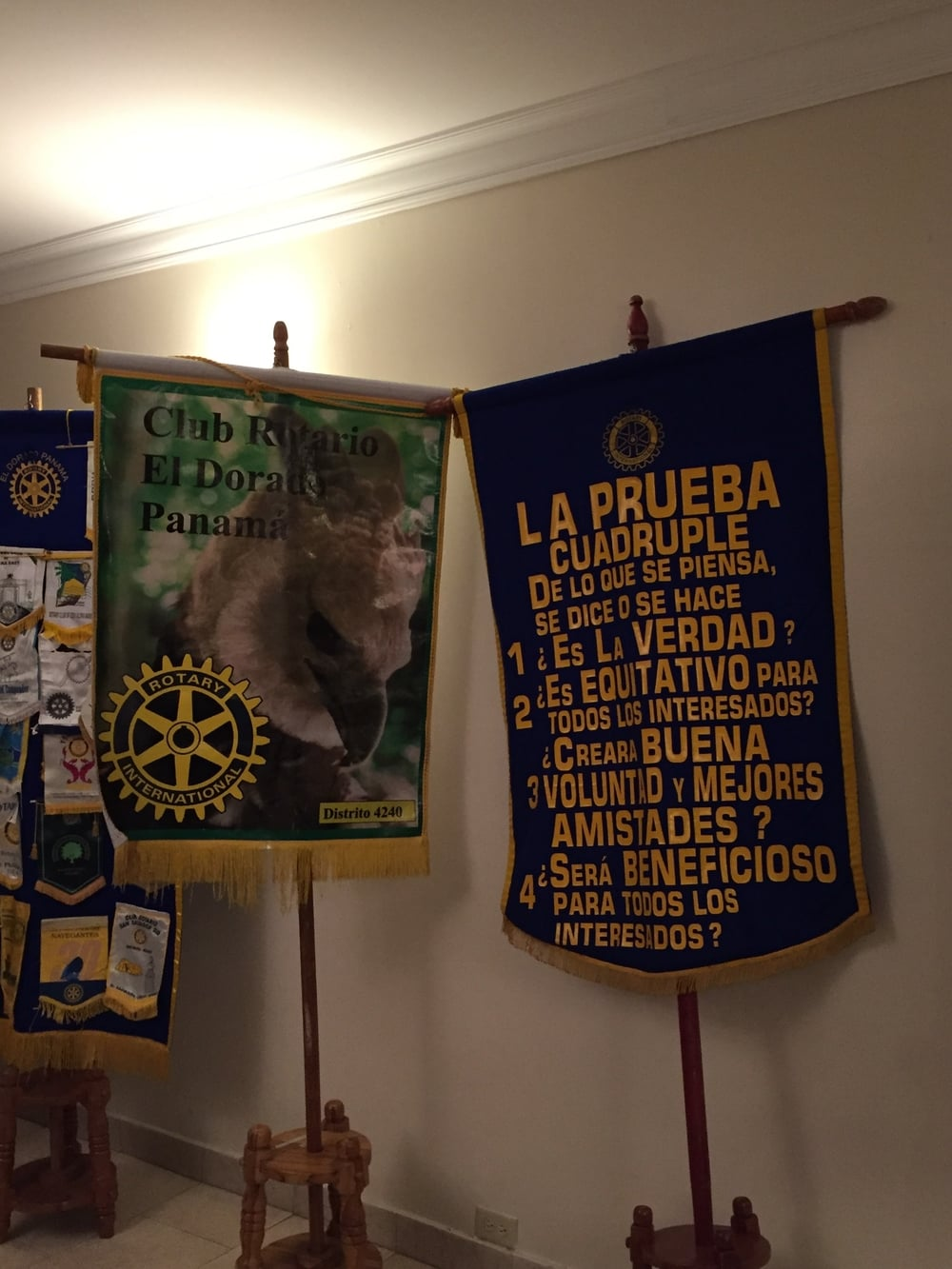 Even though members of the team don't speak Spanish we felt right at home with the same traditions at the El Dorado Rotary Club.