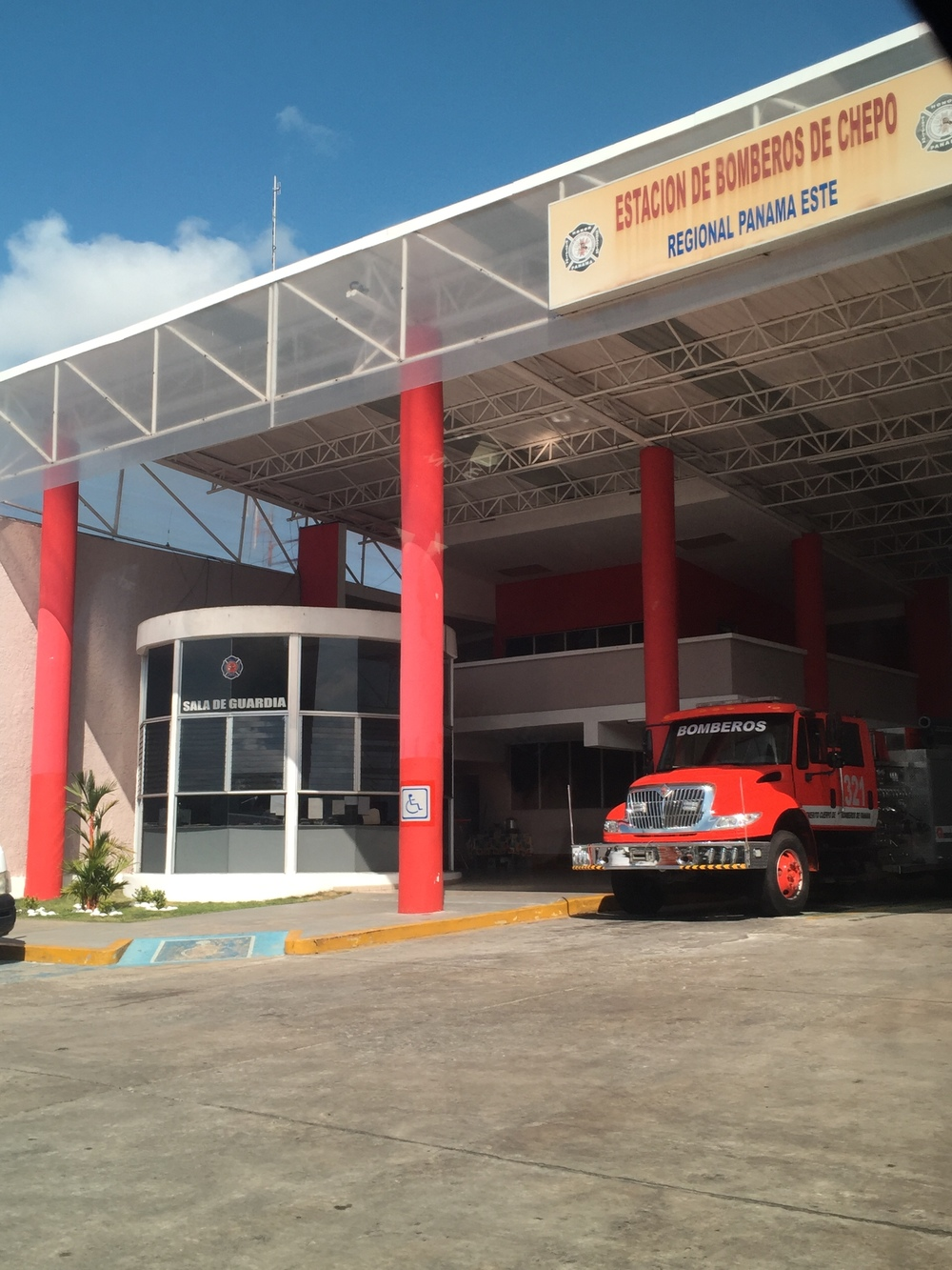 What seemed to feel like our headquarters- the Chepo firestation!