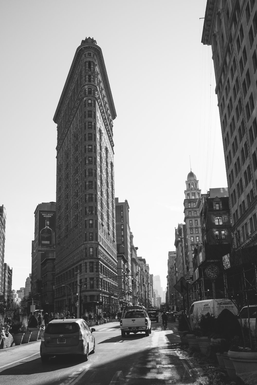 the Flatiron Building in Manhattan