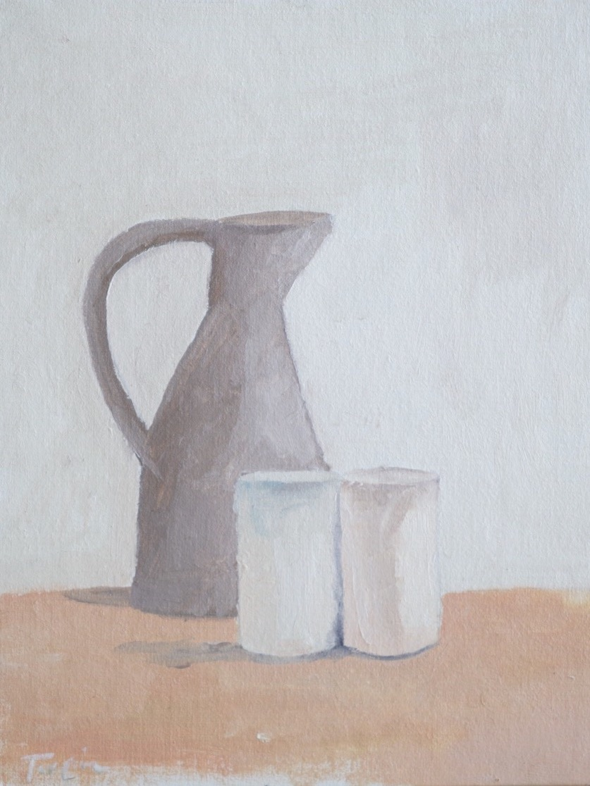 "still life no. 1 8""x10"" oil on canvas $25 SOLD"
