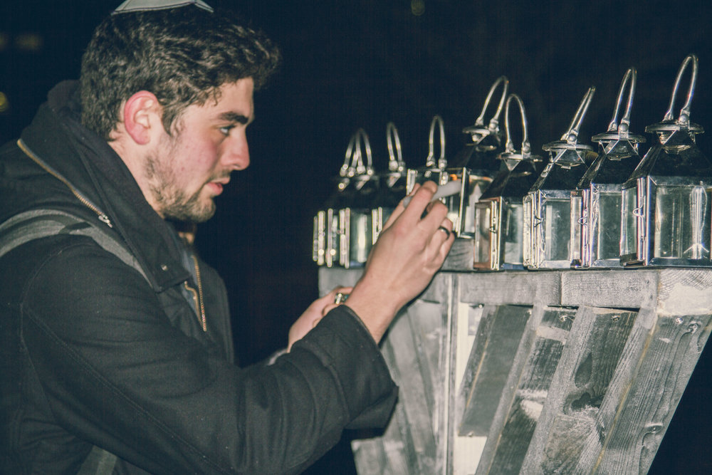 Grand Menorah Lighting on Campus