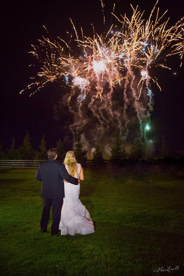 Wedding fireworks photography inspiration