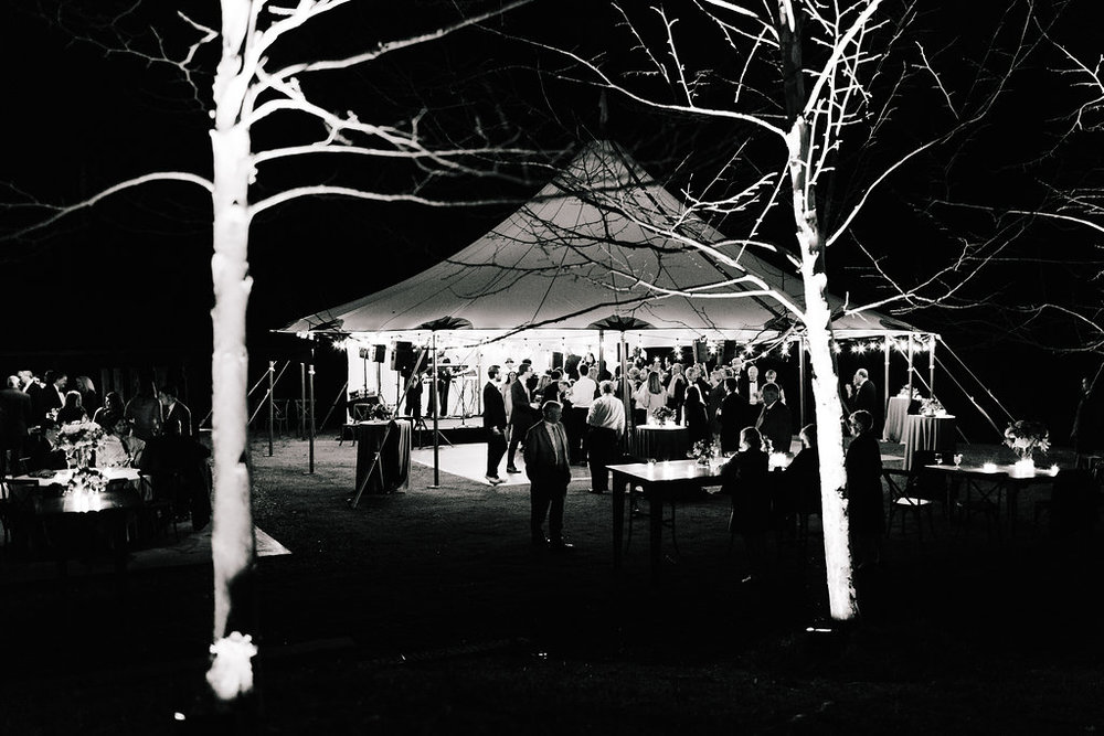 Tented wedding reception pictures