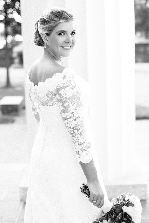 Black and white bridal portraits | Greg Boulus Events, Augusta GA.
