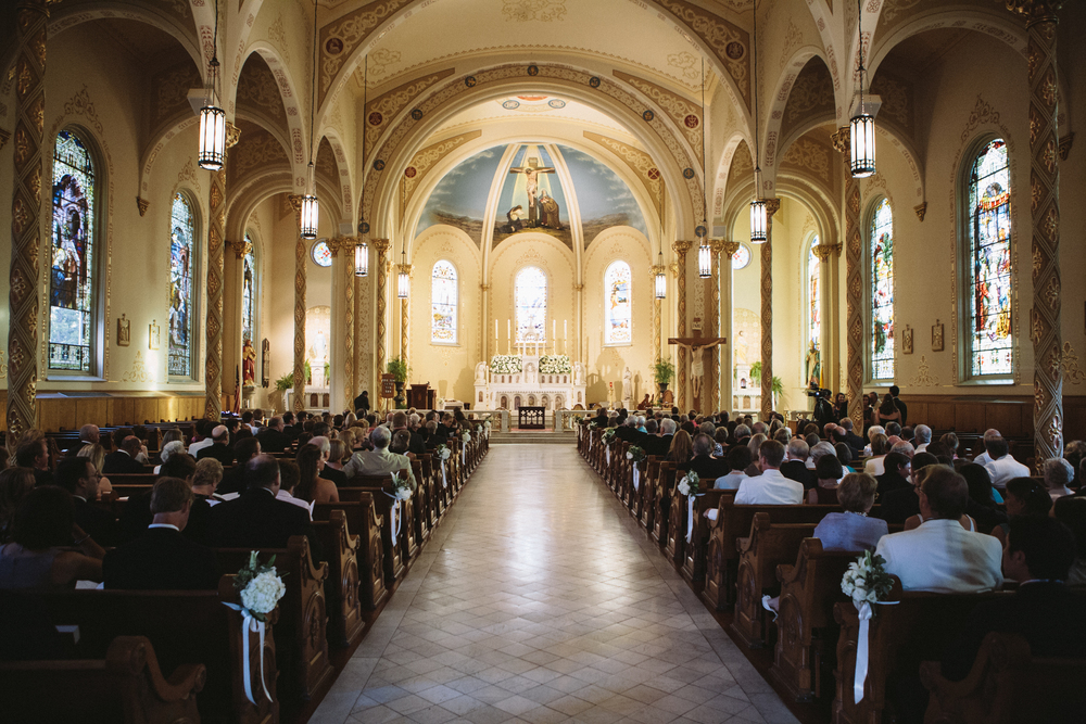 Wedding Ceremony at Church of the Most Holy Trinity, Augusta GA.